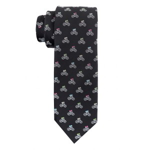Bicycle Black Microfiber Necktie