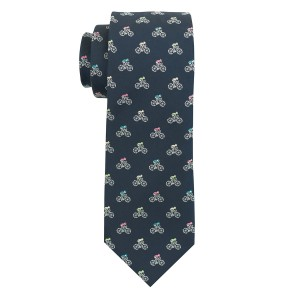 Bicycle Navy Blue Microfiber Necktie