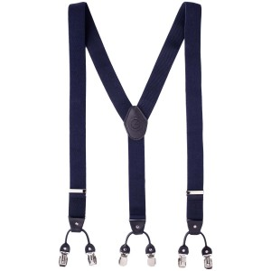 Carbon Navy Blue Y Back Suspender
