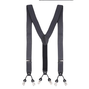 Square Trip Grey Y Back Suspender