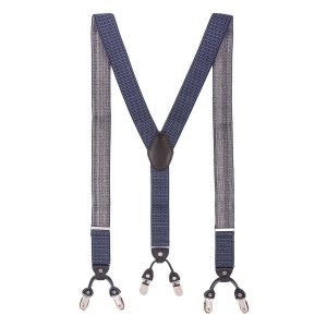 Rush Polka Blue and White Y Back Suspender