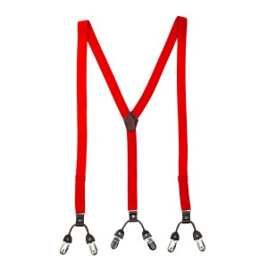 Ringside Red Y Back Slim Suspender