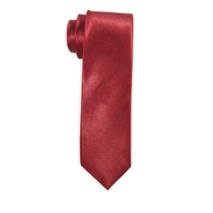 Stanley Solid - Burgundy Satin Slim Neck Tie