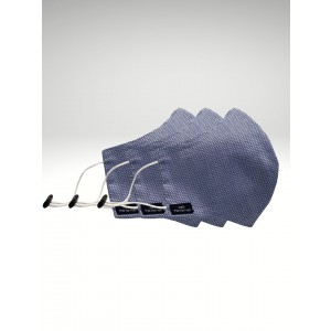 Blue Solid Premium Cotton Face Mask (Pack of 3)