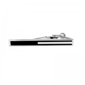 Boost Silver Line Brass Tie Bar by The Tie Hub