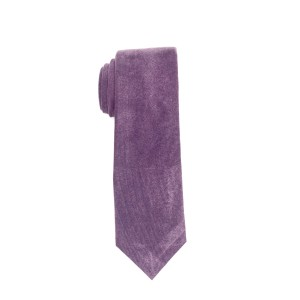 Solid Purple Suede Necktie