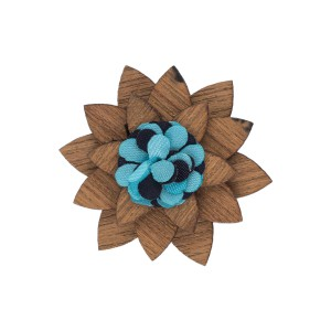 Lapel Pin - Blue Cracker Wooden