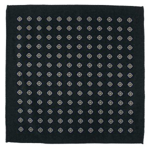 Dotted Hitch Green Wool Pocket Square For Men By The Tie Hub