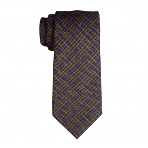 Royal Brown Plaid Regular 100% Wool Necktie