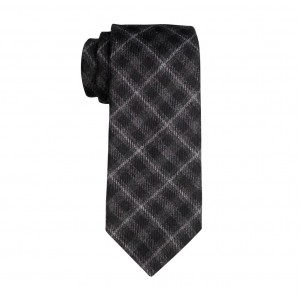 Azalea Back Plaid Woolen Regular Necktie By The Tie Hub