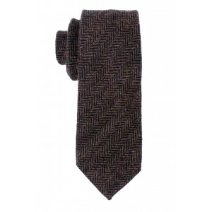 Ridge Herringbone Green 100% Wool Necktie
