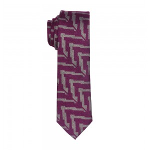 Editor Geo - Purple Wool Slim Necktie by The Tie Hub