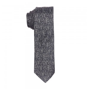 Dazzler-Grey Slim 100% Wool Necktie
