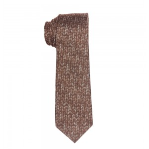 Dazzler Brown Slim Slim 100% Wool Necktie