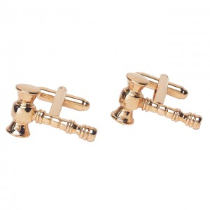 Hammer of Justice Gold polished cufflinks