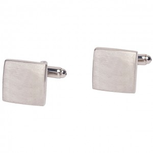 Square plain cufflinks