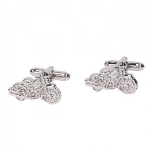 Motorcycle Silver Cufflinks