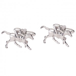 Durby Horse with Jockey Cufflinks
