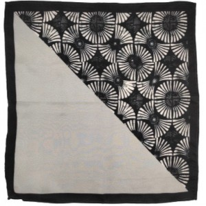 Showtime Grey And white 100% Silk Pocket Square