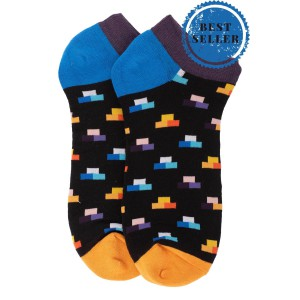 Multicolour Podium Ankle Length Bright Socks