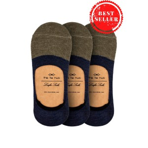 Pack of 3 Parker Two Color Loafer socks - Green/Navy