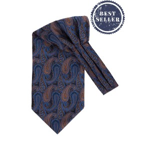 Phelps Blue and Brown Paisley Cravat