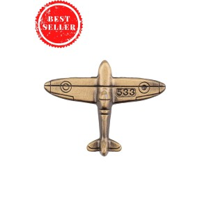Fighter Aircraft Rustic  Metal Lapel Pin