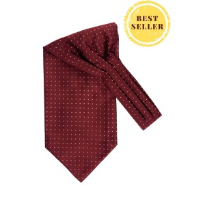 Revolve Maroon with Yellow Mini Polka Cravat