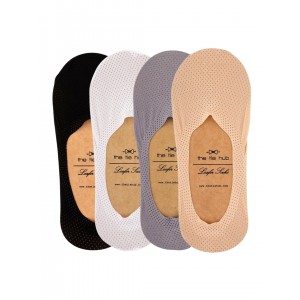 PACK OF 4 BREATHABLE LOAFER SOCKS - SILICON LINING