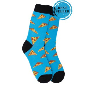 Blue Pizza Crew Length Socks