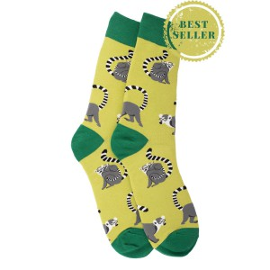 Green Lemur Crew Length Socks