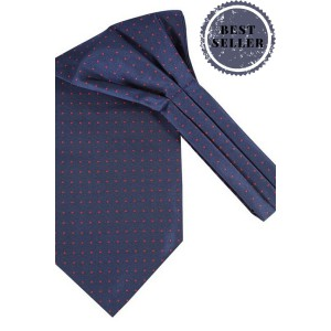Mini Dots - Navy Blue Microfiber Cravats