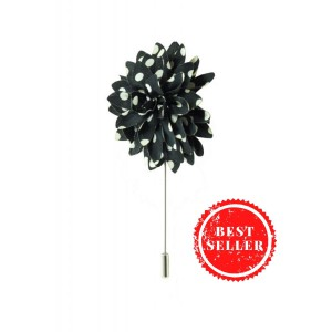 Gladiolus - Black/White (Lapel Pin)