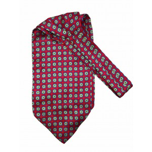 Pink and Blue Floral Silk Cravat By The Tie Hub