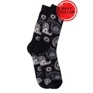 Vintage Paisley - Black (Bright Socks)