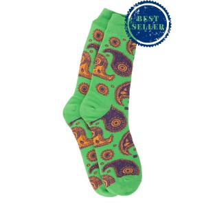Vintage Paisley - Green (Bright Socks)