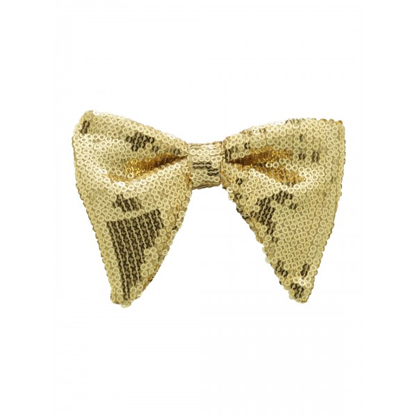 Gold Sequin Butterfly Bow Tie