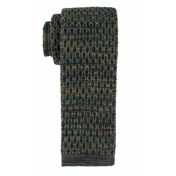 Faded Green Knitted Necktie