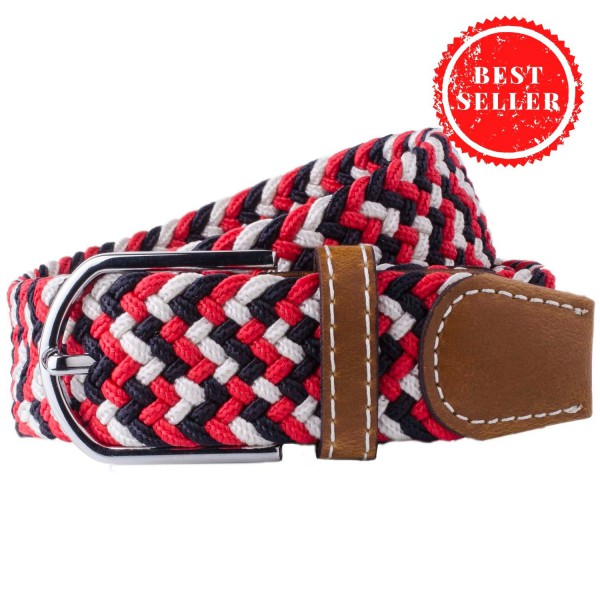 Wave - Red Elasticated Woven Belt