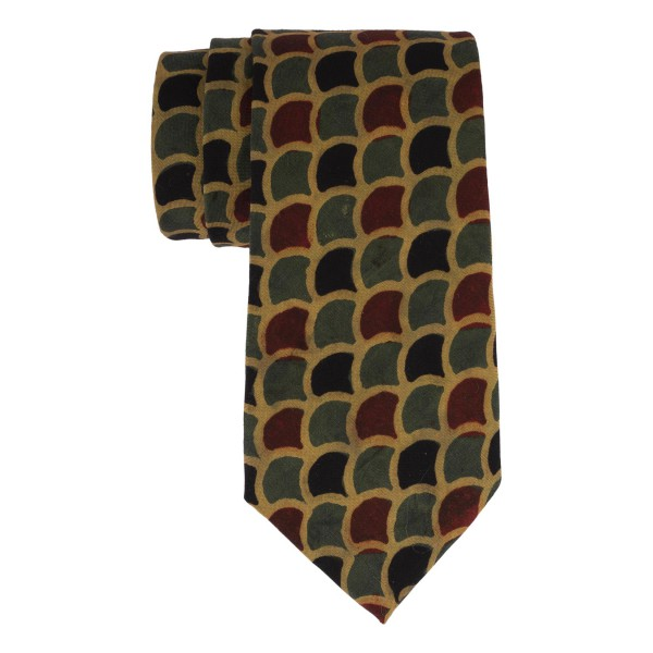 Multicolor Vegetable print 100% Khadi Necktie