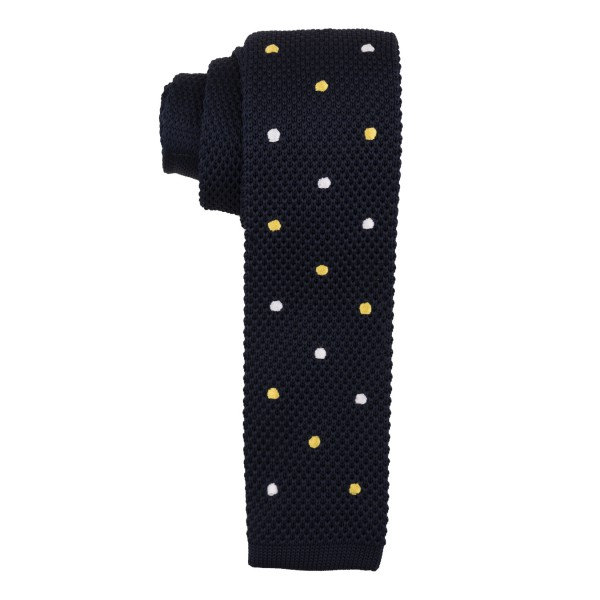 Sport Dots Navy Blue Knitted Necktie
