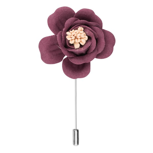 Rose Wood Pink Flower Lapel pin