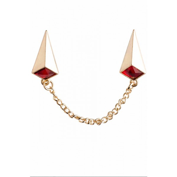 Froster Red Chain Lapel Pin