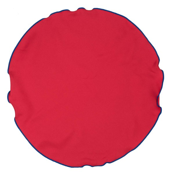 Freehand Red with Blue Border Pocket Circular