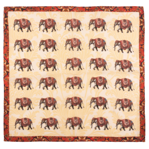 Elephant Brown 100% Silk Pocket Square
