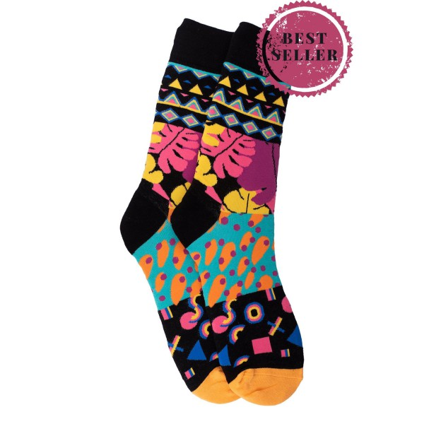 Multicolor Crew Length Socks