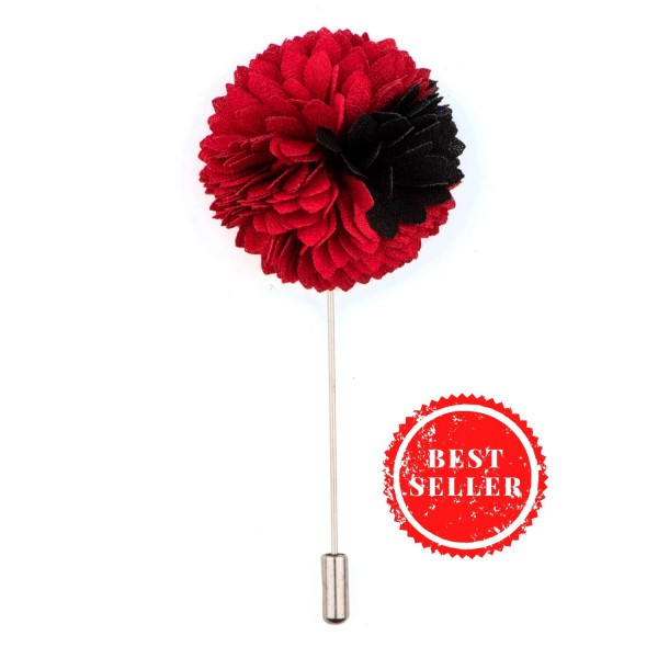 Red/Black Shade Flower Lapel pin